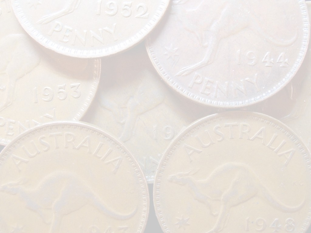 click for larger picture of Australian Pennies