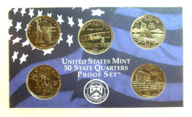 click for larger picture of 2001 S Proof Set (10 coin)