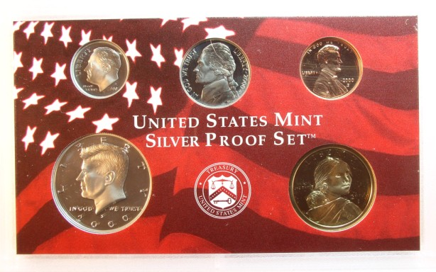 click for larger picture of 2000 S Silver Proof Set (10 coin)