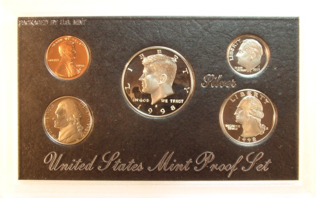 click for larger picture of 1998 S Silver Proof Set