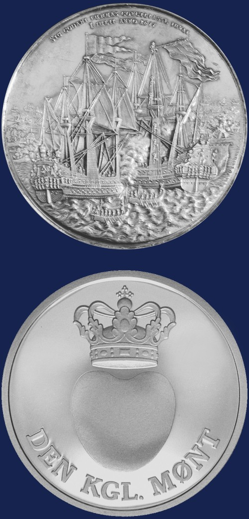 click for larger picture of Denmark Battle of Koge Bay Medal