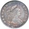 1806 Draped Bust Half Dollar  Pointed 6, stem NOT through claw