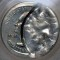 1999 Delaware State Quarter Dollar 50% Obverse Brockage and Broad Struck Error