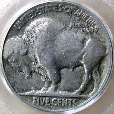 click for larger picture of 1923 S Buffalo Nickel