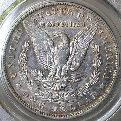 click for larger picture of 1899 O Morgan Dollar Micro O