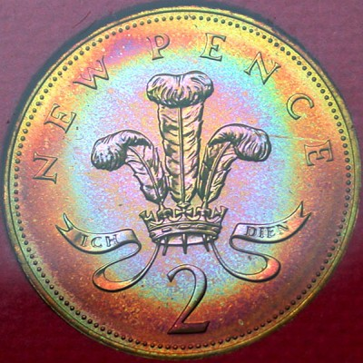click for larger picture of 1973 Great Britain 2 Pence Proof