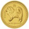 2006 P Australian Dog Gold Proof 1/4 ounce 25 Dollars