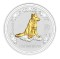 2006 Australian Silver Dog Gilded Edition 1 ounce 1 Dollar