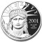 2001 W Platinum Eagle Proof 1 ounce $100 (Southwestern Desert reverse)