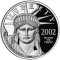 2002 W Platinum Eagle Proof 1 ounce $100 (Mountain Lake reverse)