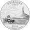 2006 Nebraska State Quarter Dollar (line art design)