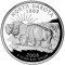 2006 S North Dakota State Quarter Dollar Proof