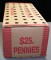 $25.00 Box of Lincoln Pennies (50 rolls)
