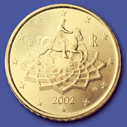 click for larger picture of 2002 Italy 50 Cents