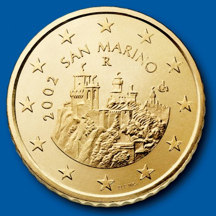 click for larger picture of 2002 San Marino 50 Cents