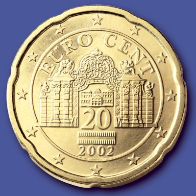 click for larger picture of 2002 Austria 20 Cents