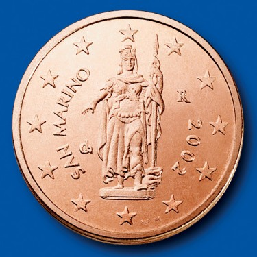 click for larger picture of 2002 San Marino 2 Cents