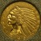 1915 $5 Indian Head Gold Half Eagle