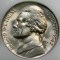1942 P Jefferson Nickel wartime silver composition