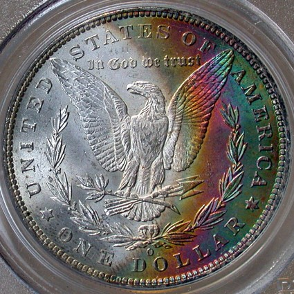 click for larger picture of 1886 O Morgan Dollar