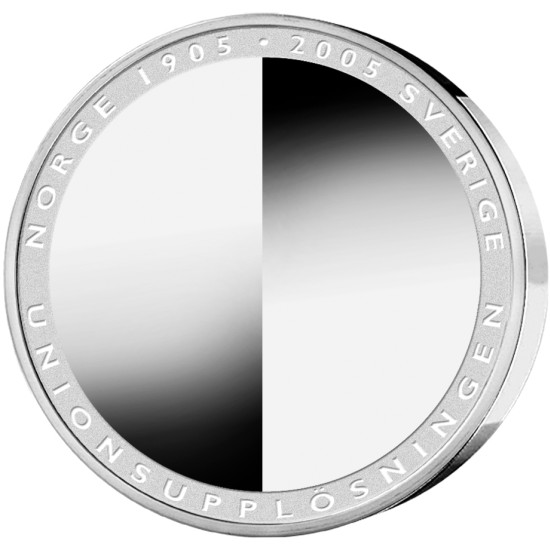 click for larger picture of 2005 Sweden Silver 200 Kronor 100th  Anniversary Dissolution of the Union between Sweden and Norway