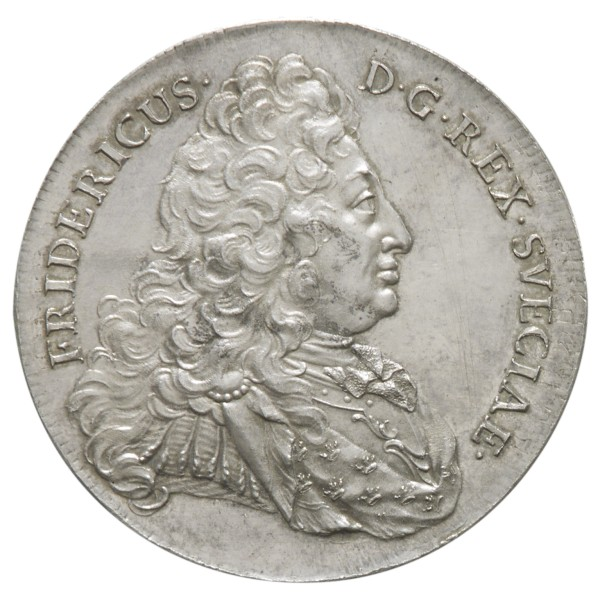 click for larger picture of 1731 Sweden Silver Riksdaler