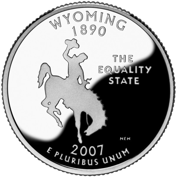 click for larger picture of 2007 S Wyoming State Quarter Dollar Proof