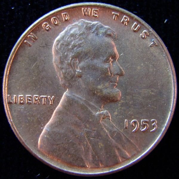 click for larger picture of 1953 Lincoln Cent