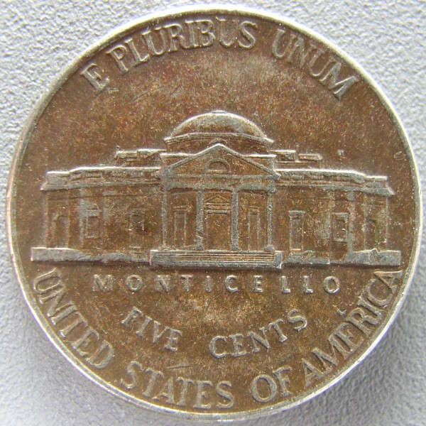click for larger picture of 2000 P Jefferson Nickel