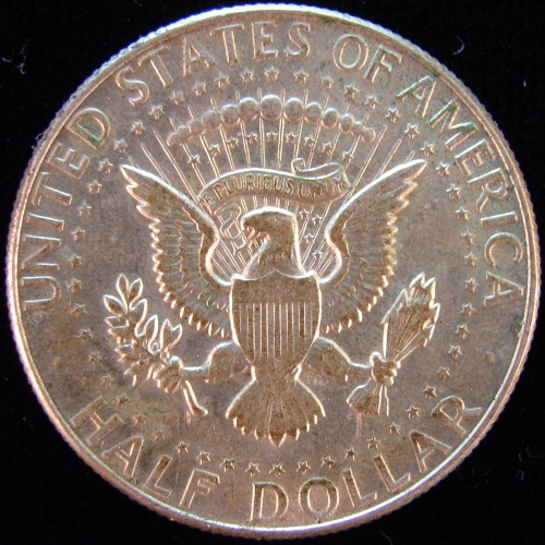 click for larger picture of 1966 Kennedy Half Dollar Silver Clad