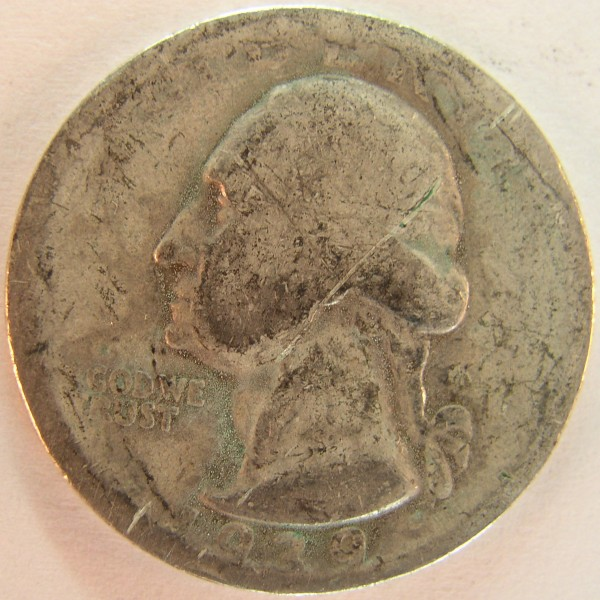 click for larger picture of 1939 D Washington Quarter Dollar