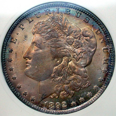 click for larger picture of 1892 O Morgan Dollar