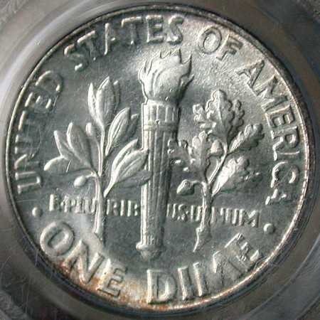 click for larger picture of 1955 Roosevelt Dime
