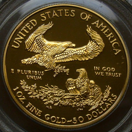 click for larger picture of 2000 W American Gold Eagle Proof One Ounce $50