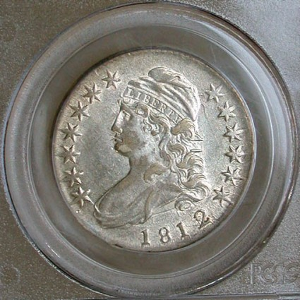 click for larger picture of 1812/1 Capped Bust Half Dollar (Small 8)