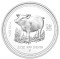2007 P Australian Silver Proof Pig 2 ounce 2 Dollars