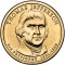 2007 P Thomas Jefferson Presidential Dollar