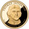 2007 S Thomas Jefferson Presidential Dollar Proof