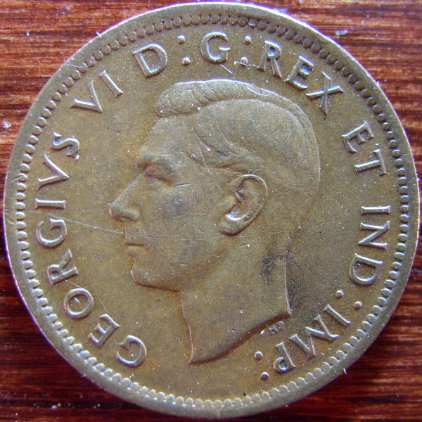 click for larger picture of 1939 Canada Cent