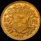 1927 B Swiss Gold 20 Francs