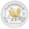 2005 Australian Silver Rooster Gilded Edition 1 ounce 1 Dollar