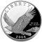 2008 P Bald Eagle Commemorative Silver Dollar Proof