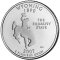 2007 P Wyoming State Quarter Dollar Uncirculated