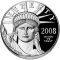 2008 W American Platinum Eagle Proof 1 ounce $100 (Lady Justice reverse)
