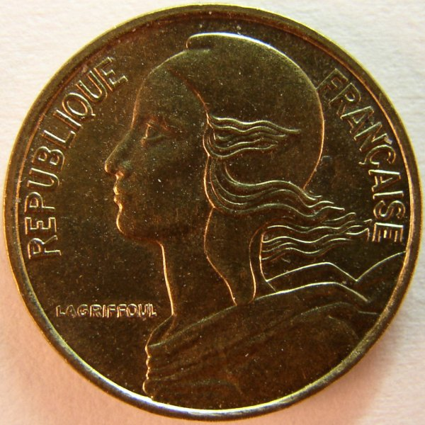 click for larger picture of 1998 France 5 Centimes
