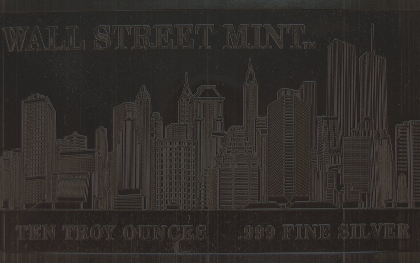 click for larger picture of Wall Street Mint 10 oz Silver Bar