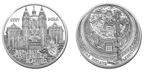 click for larger picture of 2007 Austria Silver 10 Euro Melk Abbey