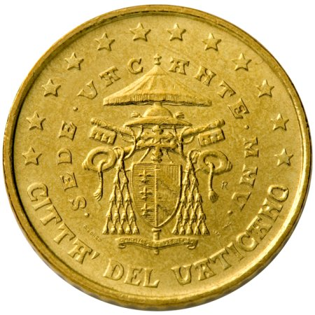 click for larger picture of 2005 R Vatican City 50 Cents - Sede Vacante