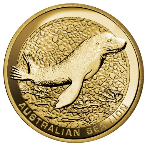 click for larger picture of 2008 P Australian Dollar Sea Lion
