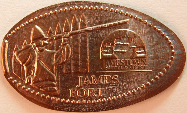 click for larger picture of James Fort, Virginia elongated cent